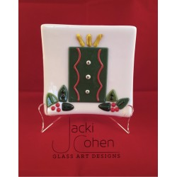 Candle/holly plate